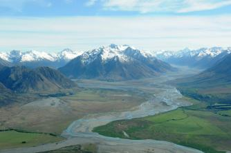 Mount Cook Region2. Tasman Valley on right. Hooker Valley on left. Tom and Rinah. Oct 08